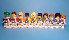 Retro Space Crew (Bart Willen) Tags: classic lego space alien retro crew minifigs collectable minifigures