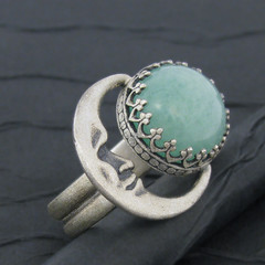 jade and crescent moon sterling silver ring .side (tinkerSue at Tinkertown) Tags: moon night silver jewelry pinky crescent ring jade sterling lunar celestial accessory tinkertown jadeite nephrite cabochon tinkersue