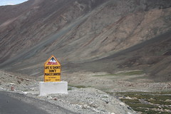 Funny Road Safety Signs, Leh Ladakh Highways (pankaj.batra) Tags: road india signs highway funny border safety bro leh himalayas ladakh jammuandkashmir