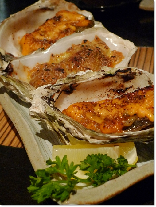 Cheese Baked & Mentai Oysters