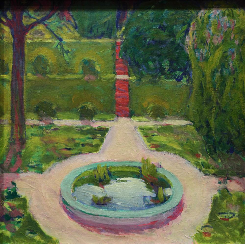 Koloman Moser, Garten mit Springbrunnen [Garden with Fountain], ?