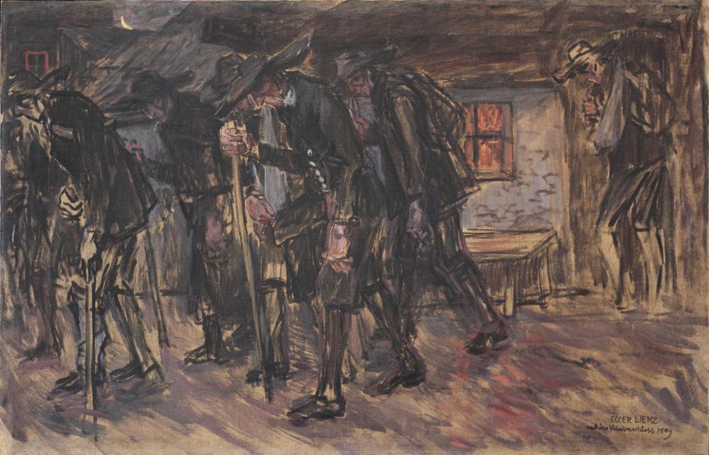 Albin Egger-Lienz, Nach dem Vriedensschluβ 1809 (sic) [After the Peace Agreement 1809, sic], 1902