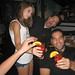 20100806 1957 - Cape Cod - family dinner - Allison, Frank, Clint - twin drinks - IMG_2113