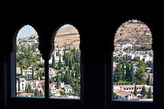 Alhambra (Danio (Кэйт)) Tags: españa window landscape ventana spain view paisaje andalucia alhambra andalusia paysage landschaft danio okno widok пейзаж hiszpania окно вид krajobraz pejzaż andaluzja испания андалузия аламбра katarzynamajgier