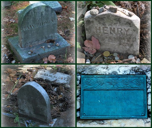 Author's Gravestones Collage