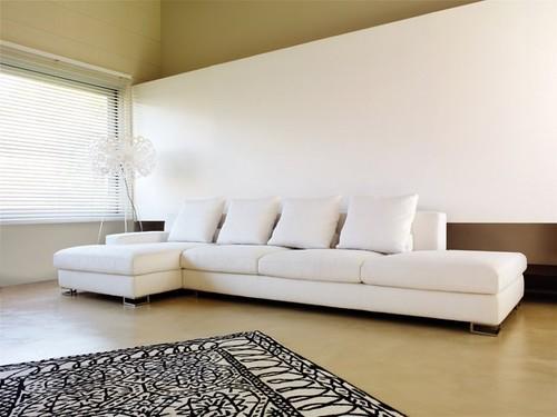 sofa branco para sala de tv