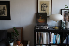 roberta-consol (GoodAfternoonan) Tags: plants ikea mushroom lamp apartment player turntable record therapy laurel expedit apartmenttherapy apartmenttherapyny