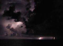 Storm at sea (Adventures of KM&G-Morris) Tags: nightime thunderstorm lightning atlanticocean darkclouds stormatsea earlsaftermath