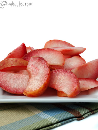 Sliced Red Plums