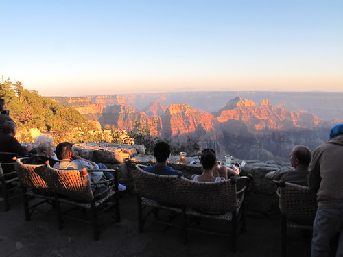 Sunset from the view deck - Grand Canyon Lodge North Rim