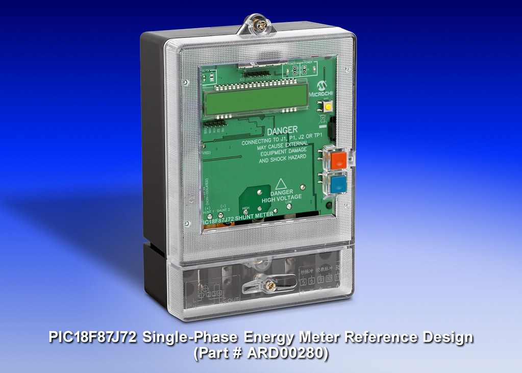 Microchip Technology's PIC18F87J72 Single-Phase Energy-Meter Reference Design (Part # ARD00280)