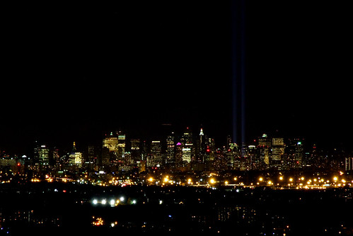 Tribute in Light, 8 Sept. 2010 taken with Fuji IS-1