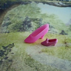 The Tiniest Shoe (Enchanticals~ Death in Family) Tags: pink two toy found miniature treasure little small barbie rubber tiny surprise lil etsy comparision pinkshoe itsybitsy toyshoe barbieshoe enchanticals enchanticalsetsy teenyshoe