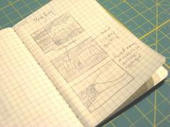 mug rug sketches