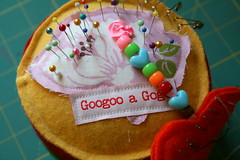 New Pin Cushion (R Knoblich) Tags: pin sewing felt pins gogo needles cushion googoo