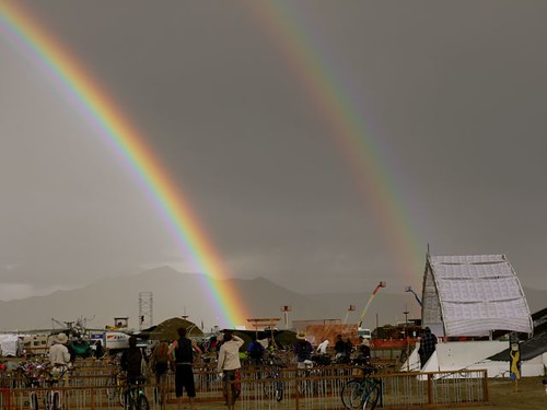 Burning Man Double Rainbow!