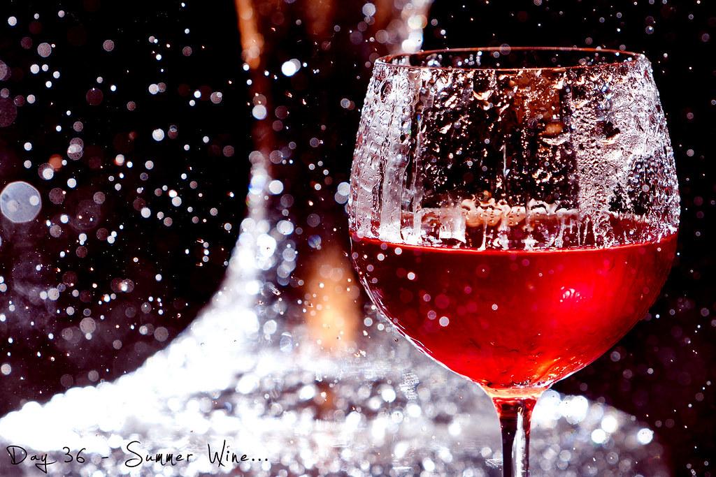 Project 365, Day 36, 036/365, bokeh, umbrella, Strobist, pocketwizard, rain, bad weather, wine, summer wine, wine glass, red wine
