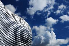 Birmingham's Bump (Stu Meech) Tags: blue sky abstract building architecture modern clouds 35mm nikon repetition dots f18 polarizer dx d300s
