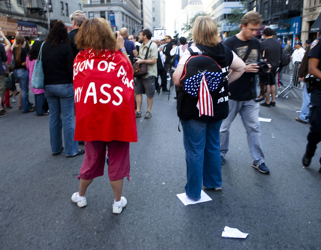 "9/11 ""Ground Zero Mosque"" Protest/Anti-Protest, Sept. 11, 2010"