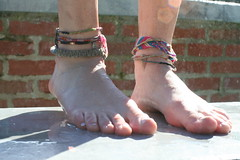 Summer Barefoot 2010 (Amy Shelton) Tags: summer feet water toes play barefoot bracelets ancklets