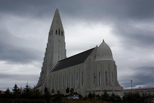 Hallgrímskirkja in downtown Reykjavik