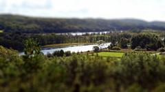 View over the river (joakimanka) Tags: water river miniature woods mini vy tiny skog vatten tiltshift kunglv nodrelv