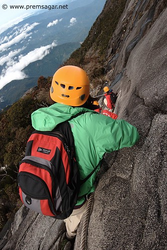Descending Mt Kinabalu