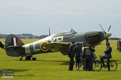 G-HHII - BE505 - CCF R20023 - Hanger 11 - Hawker Hurricane Mk2B - Duxford - 100905 - Steven Gray - IMG_5971