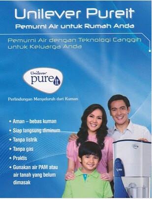 Unilever pureit, galon, pemurni air, air bersih