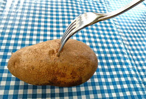 fork in potato
