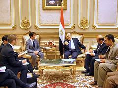 ムスタファ・エル・フェッキ・シューラー評議会アラブ問題担当委員長と会談