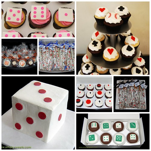 Poker and Bunco themed sweets