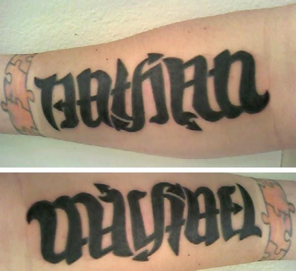 ambigrams tattoos. quot;Michaelquot; Ambigram Tattoo