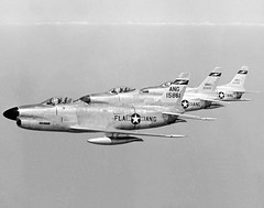 """North American F-86D-25-NA """"Sabres"""" of the 159th FIS, FLA-ANG (Jacksonville's Imeson Airport, FL.) (aeroman3) Tags: north sabre american f86d"""