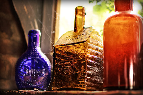 old barn bottles