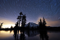 A Night at Mt. Rainier - Part 10 - 11:06pm (David M Hogan) Tags: reflection night washington nikon tarn mtrainier tutorial startrails mtrainiernationalpark d5000