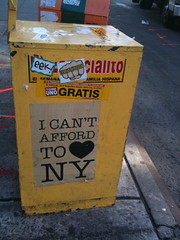 I can't afford to love NY