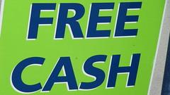 Free Cash sign