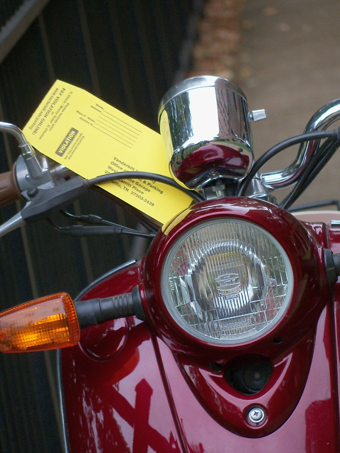 Ticket on Bike