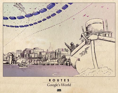 """Routes """"Google's World"""" by Alejo Malia"""