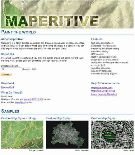 Maperitive gets a new home page