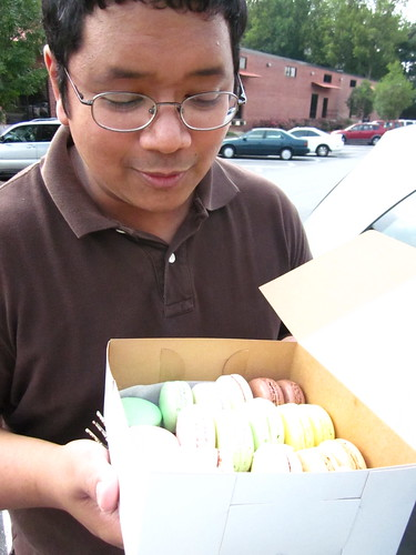 Raoul got me macarons instead of cake for my birthday!