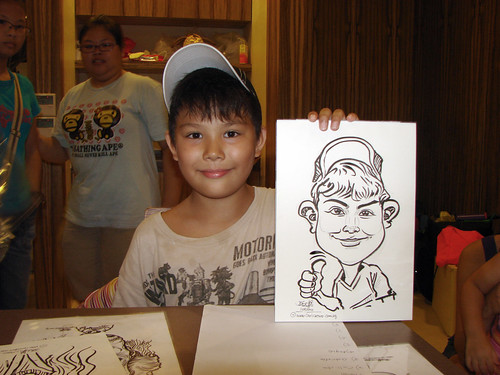 Caricature live sketching for birthday party 11092010 - 4