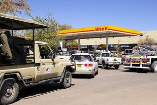 Kasane Petrol Queue