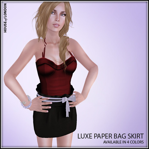 ad - luxe paper bag skirt