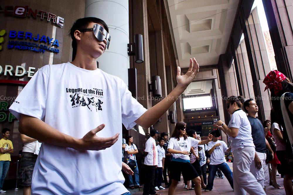 Freeze Flash Mob @ MYFm Promotion of Legend of the Fist, BerJaya Times Square, KL, Malaysia