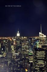 (Lanamaniac) Tags: above city nyc newyorkcity urban ny rock night buildings observation lights nikon glow manhattan jungle nights nikkor rockefeller topoftherock d90 lanamaniac