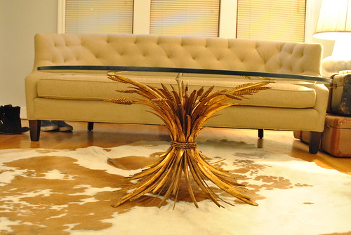 Crooked Gold Wheat Sheaf Table