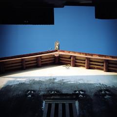 (*YIP*) Tags: blue sky color 120 6x6 film window mediumformat square asia southeastasia kodak georgetown malaysia pro penang kiev60 iso160 penangstate asianstyle epsonv500 yipchoonhong
