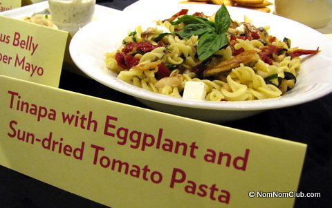 Tinapa with Eggplant and Sun-dried Tomato Pasta
